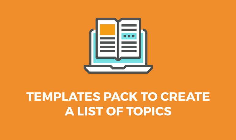 template-pack-list-of-topics